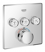 Grohe Grohtherm Smartcontrol - Thermostat mit 3 Absperrventilen chrom