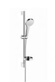 Hansgrohe Croma Select S - Brausenset Vario / Unica 650 mm weiß / chrom mit Seifenschale