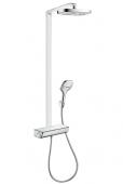 Hansgrohe Raindance Select E 300 - 2jet Showerpipe EcoSmart weiss / chrom