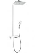 Hansgrohe Raindance Select E 360 - 1jet Showerpipe EcoSmart weiß / chrom