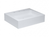 Keuco Edition 300 - Washbasin for Furniture 650x525mm with 3 tap holes with concealed overflow white without Coating