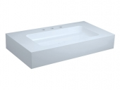 Keuco Edition 300 - Drop-in washbasin for Console 950x525mm with 3 tap holes with concealed overflow white without Coating