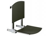 Keuco Plan care - Foldable seat black gray / chrome-plated