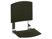 Keuco Plan care - Foldable seat silver anodized / black gray