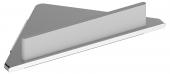 Keuco Edition 400 - Eckduschablage mit Glasabzieher silber eloxiert