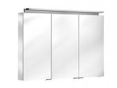 Keuco Royal L1 - Spiegelschrank mit Schubkasten silber-eloxiert 1000 x 742 x 150 mm