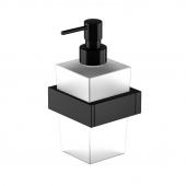 Steinberg Serie 460 - Seifenspender Wandmontage matt black weiß