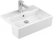 Villeroy & Boch Memento - Semi-recessed Washbasin 550x425 star white with CeramicPlus