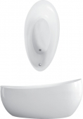 Villeroy & Boch Aveo - Badewanne 1900 x 950 mm Spezielle Form BiColor Quaryl weiß alpin