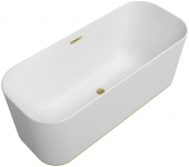 Villeroy & Boch Finion - Badewanne Ventil Überlauf Design-Ring Emotion-Funktion gold white alpin