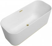 Villeroy & Boch Finion - Badewanne Ventil Überlauf Wasserzulauf DesignRing gold white alpin