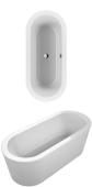 Villeroy & Boch Loop & Friends - Badewanne Oval & Friends (PD) 1800 x 800 weiß alpin