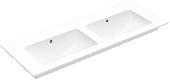 Villeroy & Boch Venticello - Schrank-Doppelwaschtisch alpin weiß ceramicplus