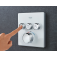 Grohe Grohtherm SmartControl - Thermostat eckig 3 Absperrventile moon white environmental1