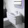 Ideal Standard Tonic II - Möbelwaschtisch 1 Hahnloch mit seitlichem Überlauf 515 x 410 x 195 mm weiß environmental