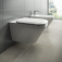 Ideal Standard Tonic II - Wandbidet 1 Hahnloch 355x 560 x 350 mm weiß mit Ideal Plus3