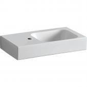 Geberit iCon xs - Waschtisch 530 x 310 mm mit Hahnloch links ohne Überlauf weiß