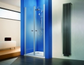 HSK - Swing door niche, 01 custom-made aluminum silver matt, 100 Glasses art center