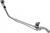 Duravit - Ab- und Überlaufgarnitur mit Bodenzulauf für Badewannen lang chrom