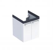 Geberit Renova Nr. 1 Comfort - Waschtischunterschrank 650 x 620 x 525 mm weiß matt / grafit matt