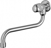 Ideal Standard Alpha - Wall tap wall-mounted with projection 230 mm without waste set chrome
