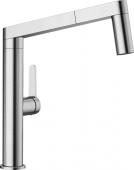 Blanco Panera-S - Küchenarmatur metallische Oberfläche Hochdruck Edelstahl gebürstet