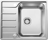 Blanco Lemis - Spüle 45 S-IF Mini Edelstahl Bürstfinish mit Ablauffernbedienung reversibel