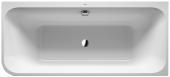 Duravit Happy D.2 Plus - Badewanne 1800x800 mm mit Verkleidung Eckeinbau rechts weiß/graphit matt