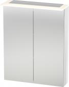 Duravit X-Large - Spiegelschrank 138x600x760mm 2 Spiegeltüren LED betongrau matt