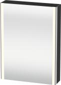Duravit XSquare - SPS mit Beleuchtung 800x600x155 graphit matt Türanschlag links