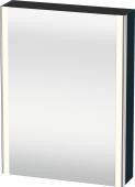 Duravit XSquare - SPS mit Beleuchtung 800x600x155 nachtblau seidenmatt Türanschlag links
