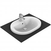 Ideal Standard Connect - Drop-in washbasin for Console 620x460mm with 1 tap hole with overflow white with IdealPlus