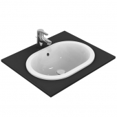 Ideal Standard Connect - Drop-in washbasin for Console 550x380mm without tap holes with overflow white with IdealPlus