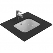 Ideal Standard Connect - Undercounter washbasin 420x350mm without tap holes with overflow white with IdealPlus