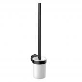 Emco Round - Bürstengarnitur Glasteil satiniert schwarz