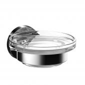 Emco Round - Seifenhalter Glasteil satiniert chrom