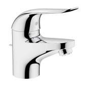 GROHE Euroeco Special - Single lever basin mixer S-Size for open water heaters without waste set chrome