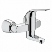 GROHE Euroeco Special - Single Lever Basin Mixer wall-mounted with projection 256 mm without waste set chrome