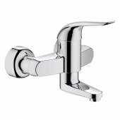 GROHE Euroeco Special - Single Lever Basin Mixer wall-mounted with projection 157 mm without waste set chrome