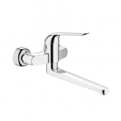GROHE Euroeco Special - Single Lever Basin Mixer wall-mounted with projection 342 mm without waste set chrome