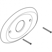 Grohe - Rosette oval 08367 230 x 157 mm für Grohmix chrom