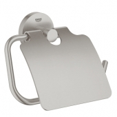 Grohe Essentials - WC-Papierhalter mit Deckel supersteel