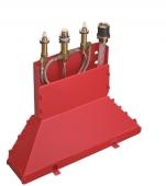 Hansgrohe Axor - Grundkörper 4-Loch Wannenarmatur für Wannenrandmontage mit Secuflexbox