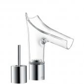 Hansgrohe Axor Starck V - Zweiloch-Waschtischmischer 110 mit Ablaufgarnitur brushed nickel