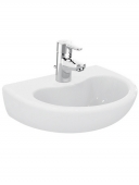 Ideal Standard Contour - Washbasin 400x330mm with 1 tap hole without overflow white with IdealPlus