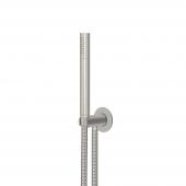 Steinberg Serie 100 BN - Handbrausegarnitur mit integriertem Brauseanschlussbogen brushed nickel