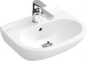 Villeroy & Boch O.novo - Washbasin Compact 550x370mm with 1 tap hole with overflow white with CeramicPlus