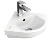 Villeroy & Boch Subway 2.0 - Corner Hand-rinse Basin 320x320 star white with CeramicPlus