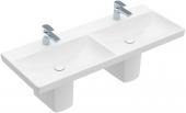 Villeroy & Boch Avento - Schrank-Doppelwaschtisch 1200 x 470 x 160 mm mit Überlauf weiß alpin