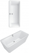 Villeroy & Boch Squaro Edge 12 - Badewanne 1800 x 800 mm Freistehend Quaryl BiColor weiß alpin